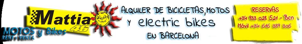 Alquiler de bicicletas eléctricas, motos y bicicletas en Barcelona.